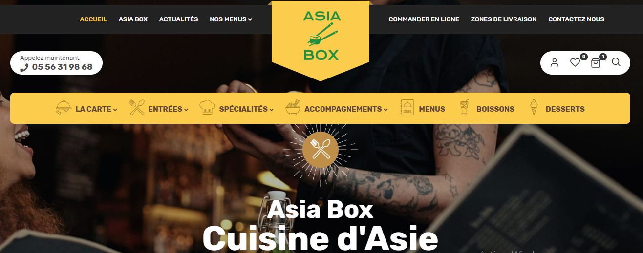 Portfolios website Asia Box