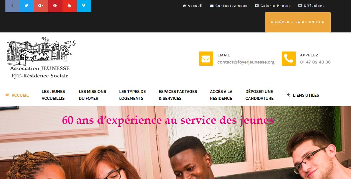 Portfolios website Foyer jeunesse