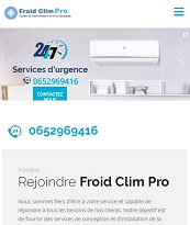 Portfolios website SASU SG FROID CLIM